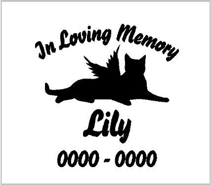Cat Memorial Kitten Kitty Animal Pet Memorial Decal Window Sticker
