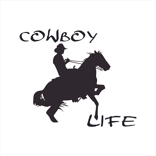 Cowboy Life Cowgirl Horse Country Western Decal Window Sticker