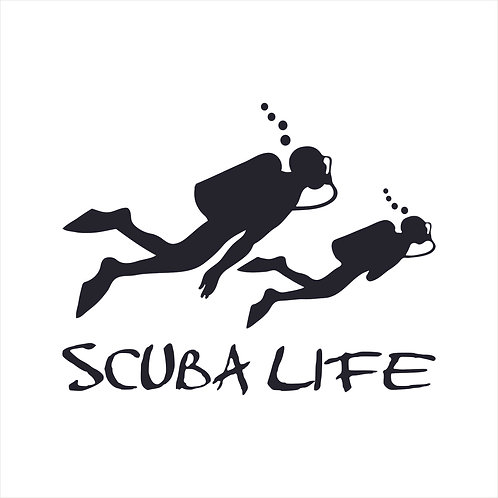 Scuba Diver Dive Diving Scuba Snorkel Decal Vinyl Window Sticker