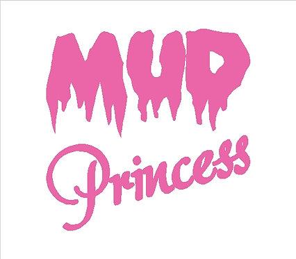 Off Road 4x4 Mud Princess Decal Window Sticker