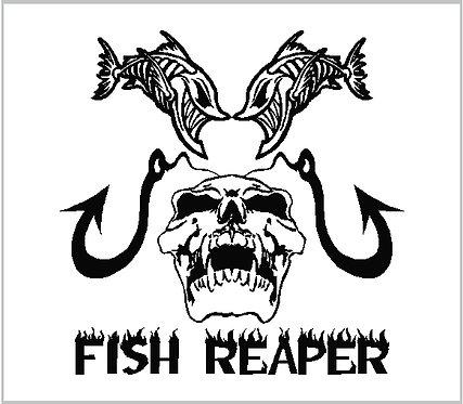 Fish Fishing Hook Rod Reel Decal Window Sticker