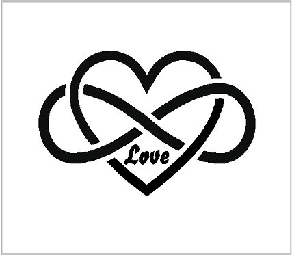 Heart Love Infinity Celtic Decal Window Sticker