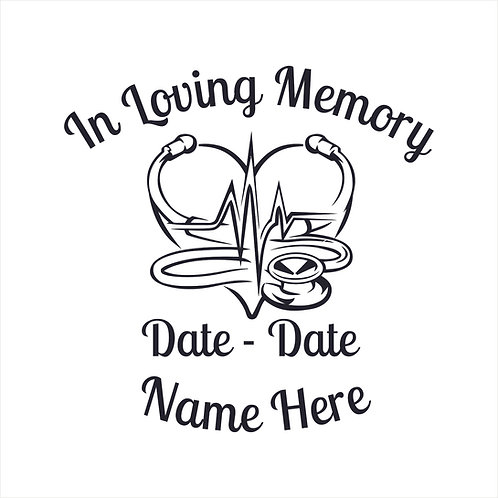 Memorial Nurse Doctor First Responder Memorial Decal Window Sticker