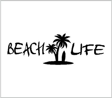 Decal Beach Life Surfboard Life Vinyl Decal Window Sticker