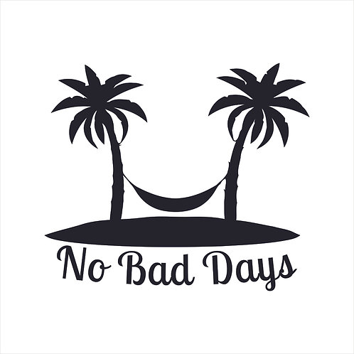 No Bad Days Palm Trees Beach Surf Surfer Ocean Hammock Decal Window Sticker