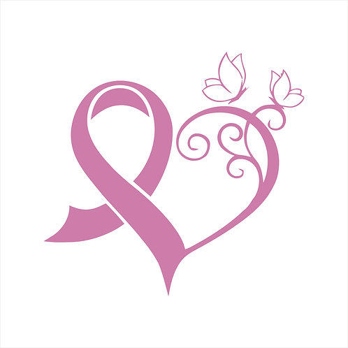 Breast Cancer Ribbon Butterfly Heart Hope Cancer Vinyl Decal Window Sticker
