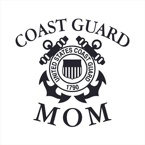 Coast Guard Mom US Coast Guard Mom Coastie Window Sticker