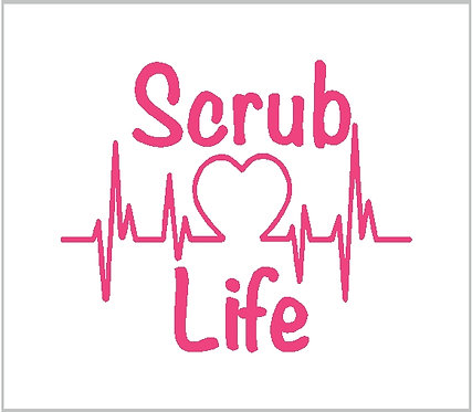 Nurse Nursing Medical Scrub Heart Vinyl Decal Window Sticker