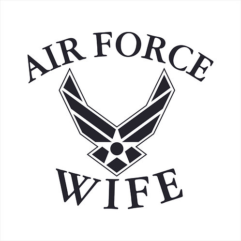 Air Force Wife US Air Force Wife Vinyl Decal Window Sticker