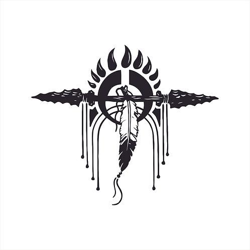 Decal Native American Design Vinyl Decal Window Sticker