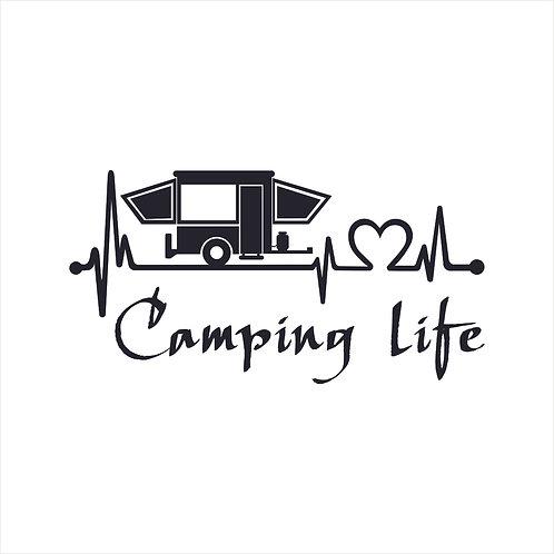 Camp Camping Camper Camp Life Window Sticker