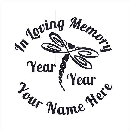 Dragonfly Memorial Vinyl Decal Decal Window Sticker