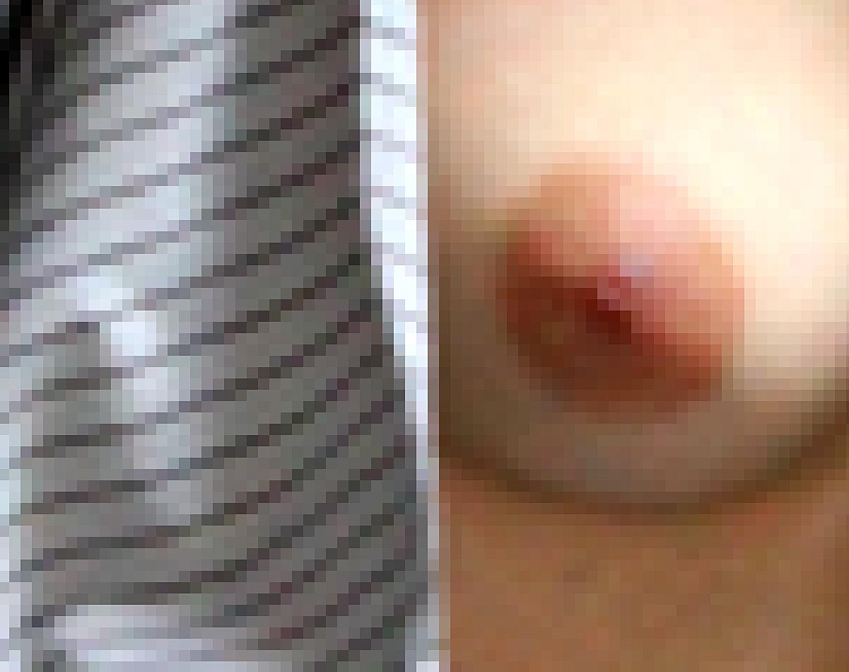 SE NO - ingrandimento dell'immagine fotografica al fine di visualizzarne la struttura in pixel - immagine di carlodemeo.