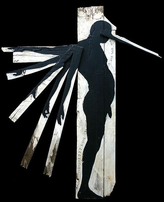 opera di carlo de meo, tempera acrilica su tavole di legno, 2011