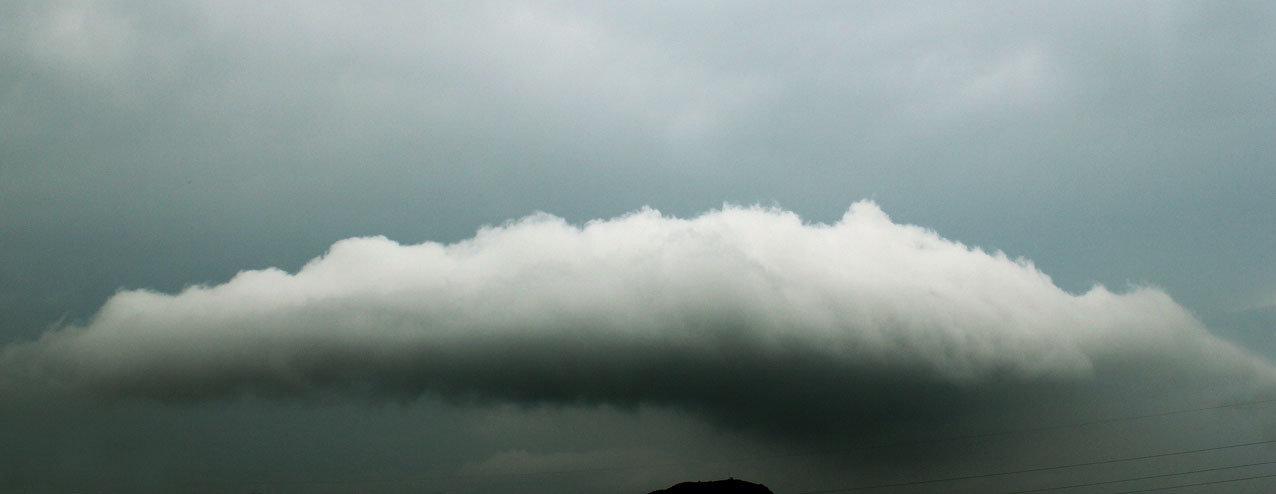 nuvola sulla collina di campese, maranola, formia