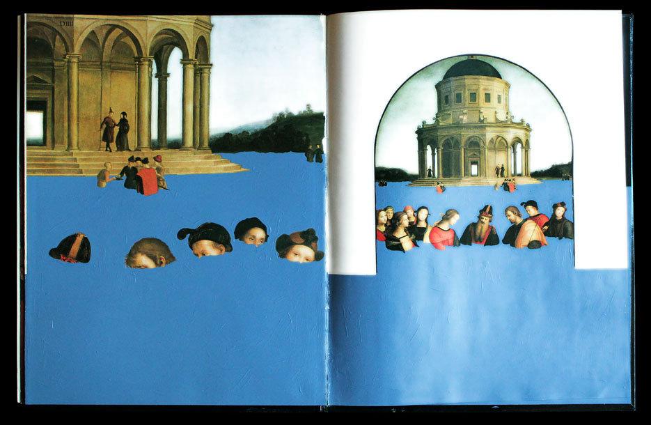 """""""Il grande pianto che tutto copre"""" di carlodemeo - intervento pittorico su monografia di Raffaello -"""