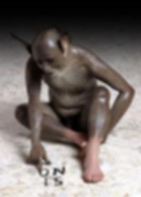 asino che scrive, scultura, si no, figura seduta