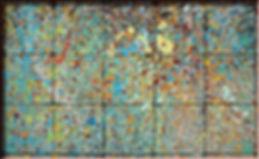 gocciolatura di colori, pavimento esterno del liceo Artistico di Latina - foto di carlo de meo