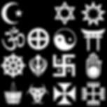 simboli religiosi ... la croce cristiana manca perché già presente all'interno della pagina web