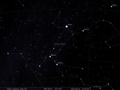 stelle, sirius, costellazione