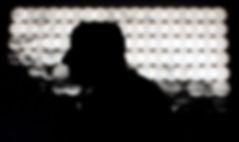 silhouette di carlo de meo, controluce, profilo in bianco e nero