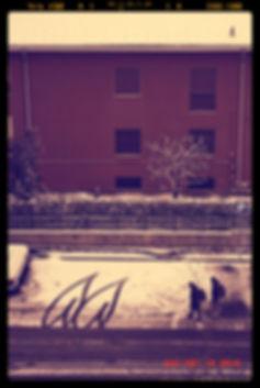 neve a Rho, due segni sulla strada, persone, neve, parcheggio