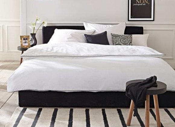 Белое постельное белье с кантом Vern
