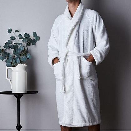 Белый велюровый халат