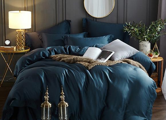 Синее постельное белье из Королевского хлопка Mavi