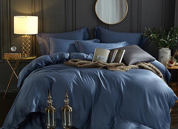 Синее постельное белье из Королевского хлопка