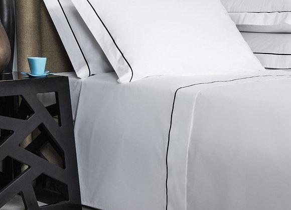 Белое постельное белье с кантом Alpin