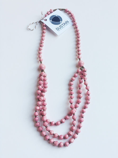 Pink Styled Necklace