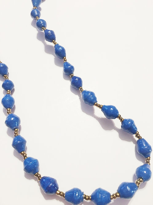 Blue Long One Strand Necklace