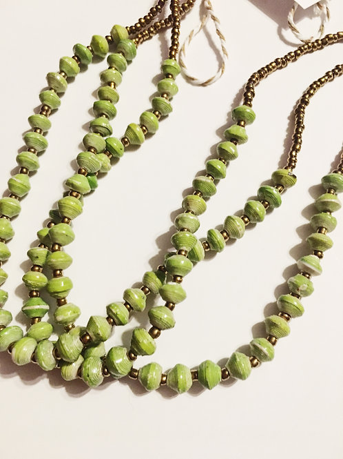 Light Green Small Bead Necklace