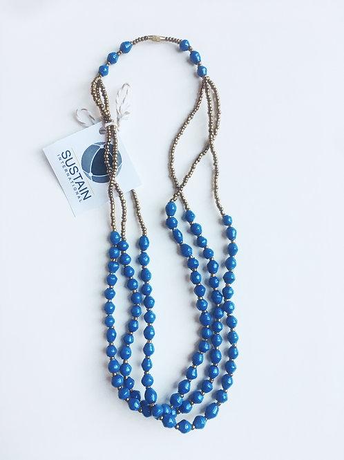Short Blue Necklace