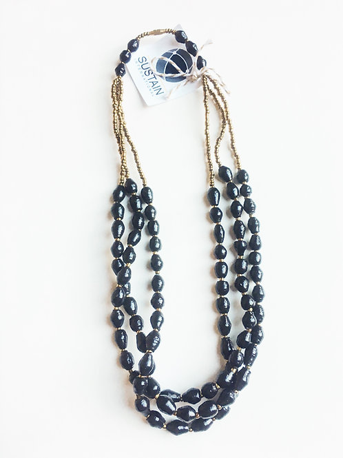 Short Black Necklace