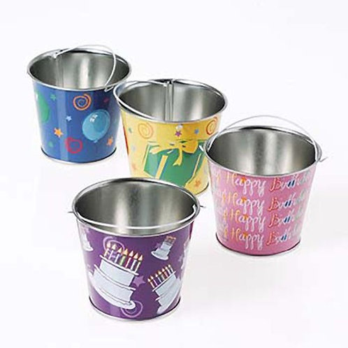 Bucket Mini Metal Birthday