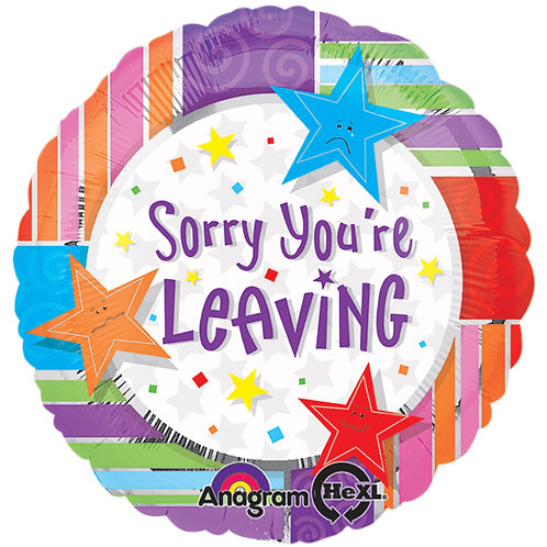 "Balloon Foil 18"" Sorry You're Leaving"