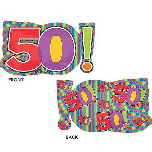 "Balloon Foil 29"" Age 50!"