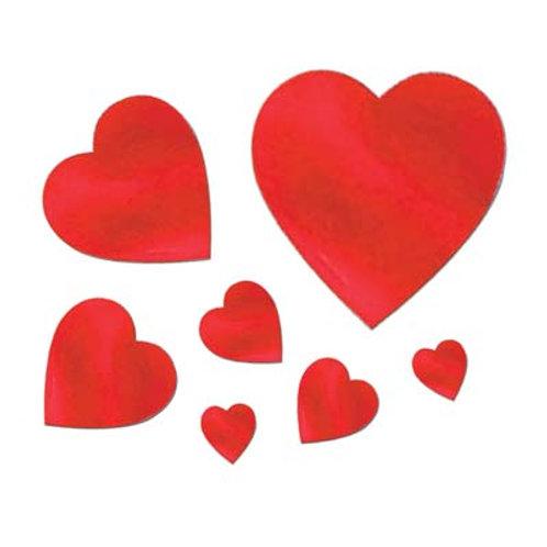 Valentine's Foil Hearts 40ct