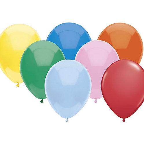 "Balloon Latex 5"" Assorted 100Ct"