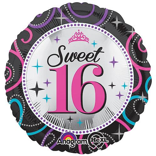 "Balloon Foil 17"" Sweet 16"