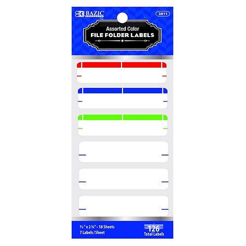 Assorted Color File Folder Label (126/Pack)