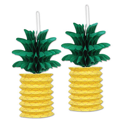 """Pineapple Paper Lanterns 10"""" 2ct"""