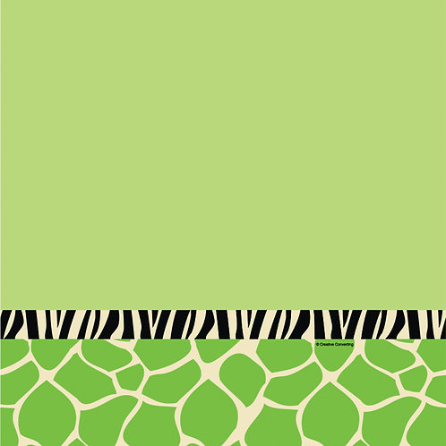 """Wild At One Zebra Plastic Tablecover 54""""X108"""""""