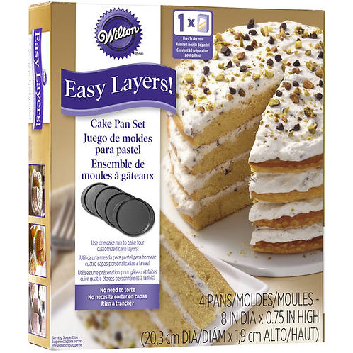 4Pc Easy Layers 8In Round