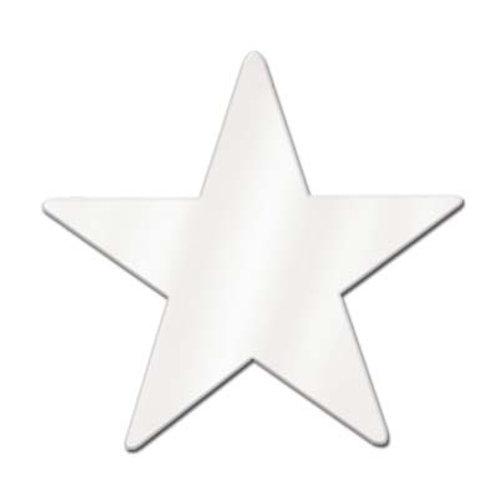 """White Foil Star 12"""""""