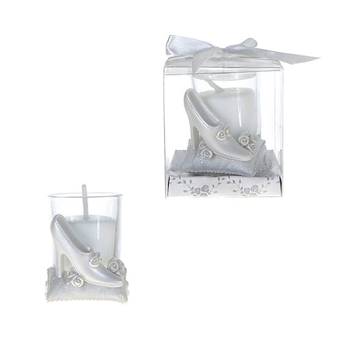 Favor Candle Wedding Shoe White