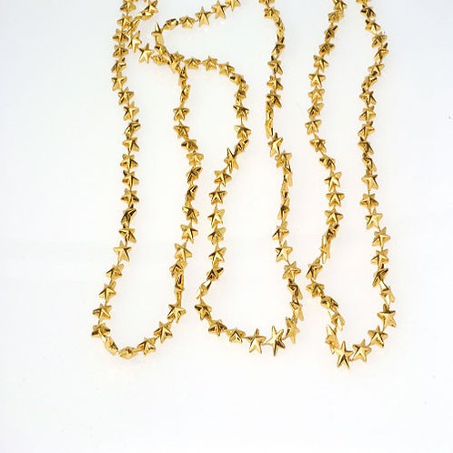 Bead Necklace Star Gold 12Ct