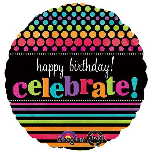 "Balloon 17"" Happy Birthday Celebrate!"